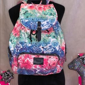 RARE Victoria's Secret Pink Watercolor Backpack